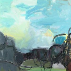 Sky Against Rocks III by Rachelle Krieger