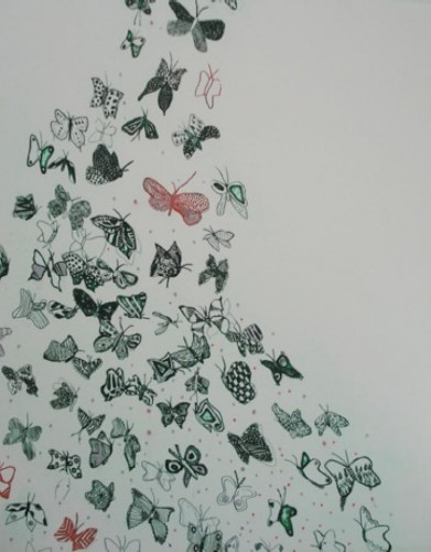 Butterfly Away (White) by Fumiko Toda