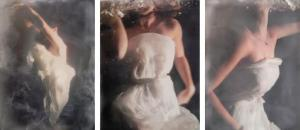 Emily Suspended (Triptych) by Andrea Bonfils