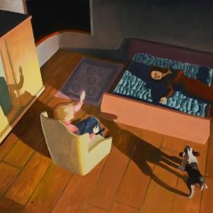 Dog and Couple by Kathy Osborn