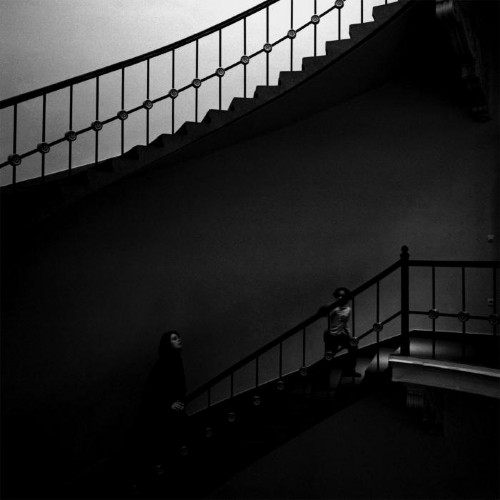 Mother and Child Coming Up Stairs by Shigeki Yoshida