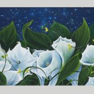 Moon Flowers by Allison Green