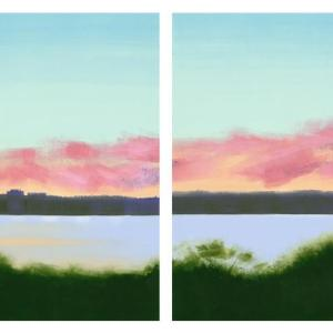 Low Pink Clouds by Rachel Burgess