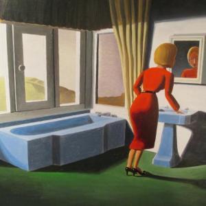 Peering in Mirror by Kathy Osborn