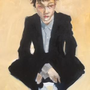 Girl Crouching by Ruth Shively