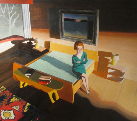 Woman on Bed by Kathy Osborn