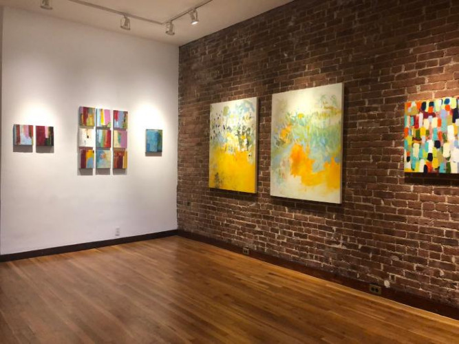Installation View of Lisa Pressman and Soonae Tark: A Two-Person Exhibition