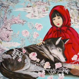 Little Red Riding Hood with an Odd-Hand Wolf by Ayakoh Furukawa