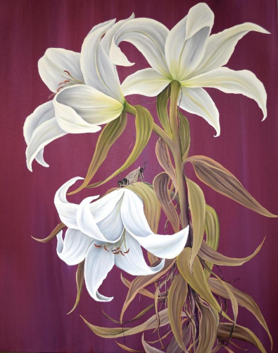 Dusk Lilies by Allison Green