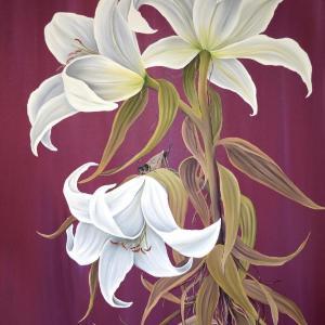 Dusk Lilies by Allison Green