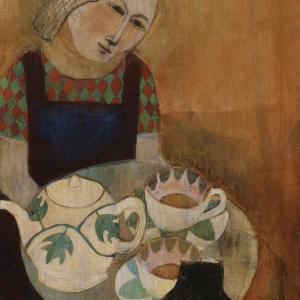 Sonya brings tea by Deirdre O'Connell