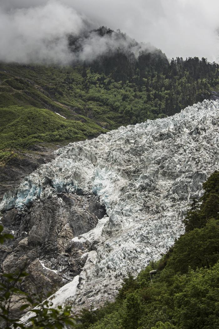 Mingyong Glacier on Mount Kawagebo, Deqin, China by Carolyn Monastra