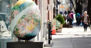 Liane Ricci and Fumiko Toda Included in The Fabergé Big Egg Hunt New York