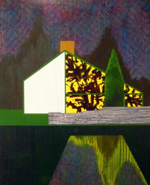 """James Isherwood, """"Sheer House"""", acrylic on panel, 15 x 12 inches, 2010-12"""