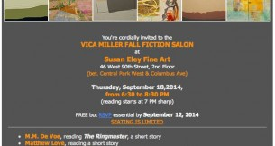 Vica Miller Literary Salon at SEFA Sept 18