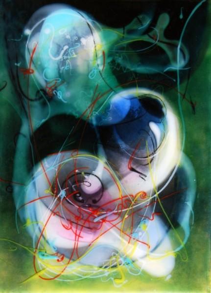 "Jongwang Lee, 2011, ""Resurrection"", mixed media, 16 x 11,5 inches"
