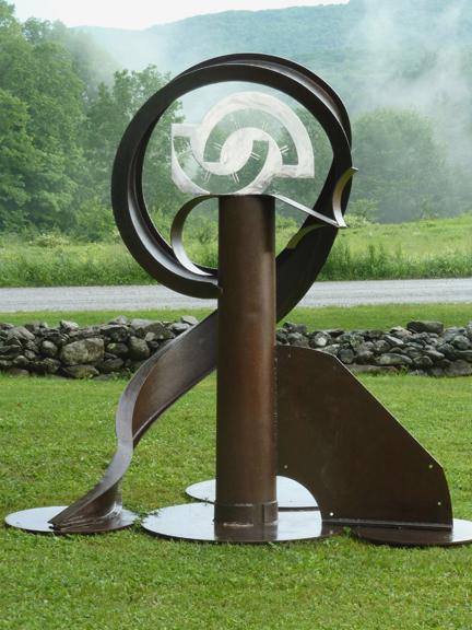 """Carole Eisner, """"Swizzle"""", welded steel"""