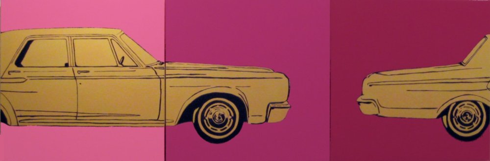 CHARLES BUCKLEY, 1965 DODGE CORONET (2010), ACRYLIC ON CANVAS, 24 X 72 INCHES