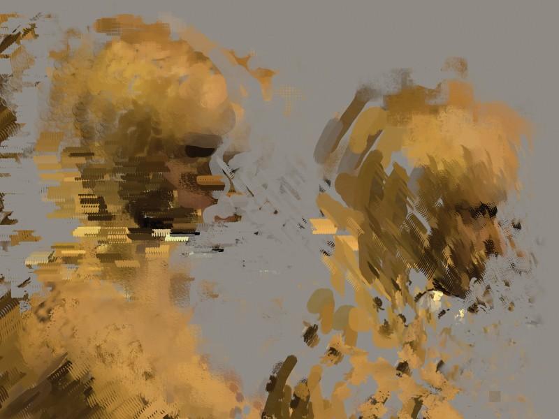 GARY KALEDA, DIGITAL PROFILE (2007), DIGITAL PAINTING, 32 X 24 INCHES