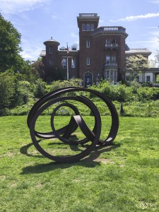 "Carole Eisner, ""Zerques"", 2005, rolled and welded steel i-beams, 80""h x 147""w x 138""d"
