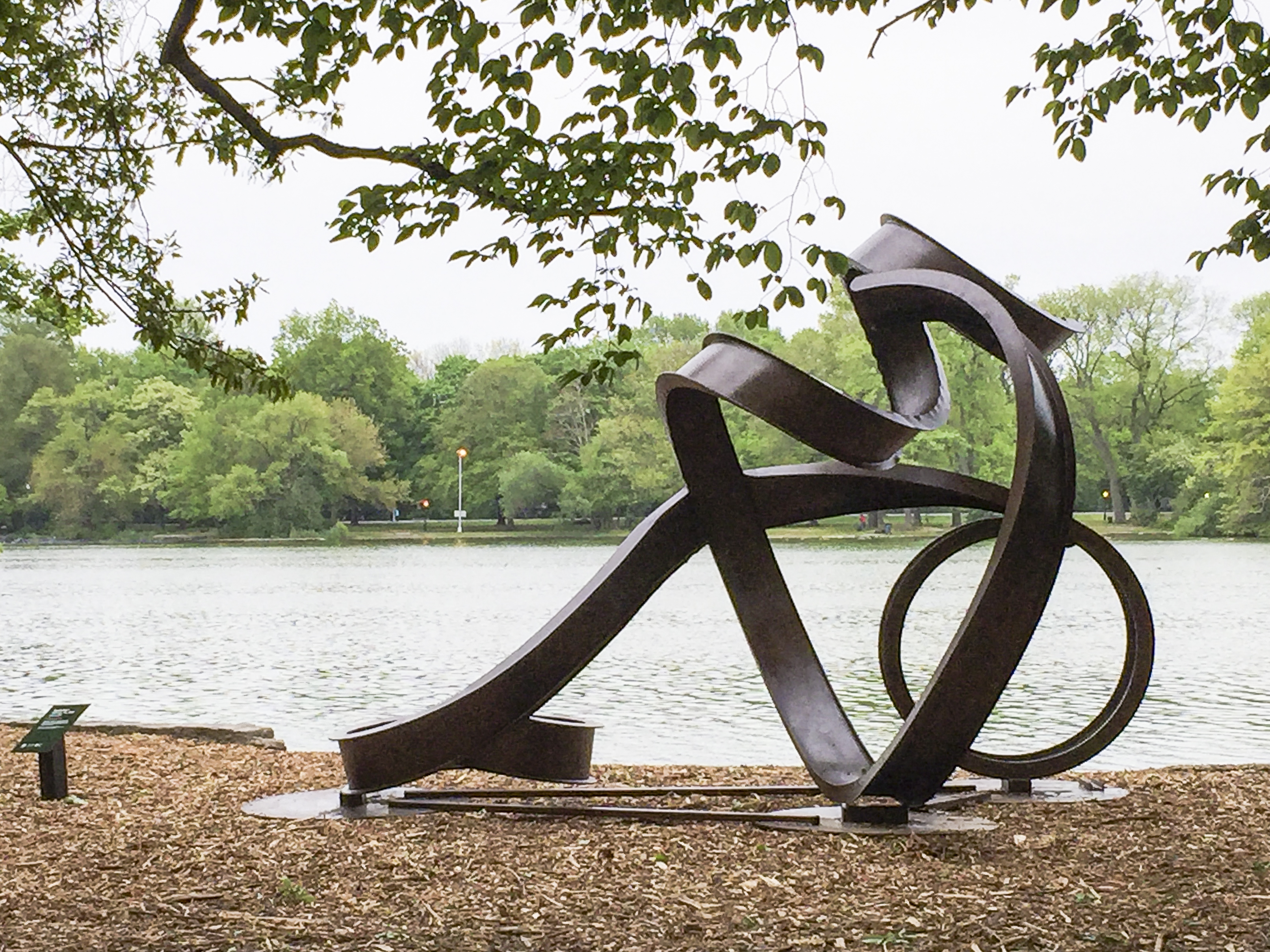 "Carole Eisner, ""Valentine II"", 2005, rolled and welded steel i-beams, 162""h x 243""w x 146""d"