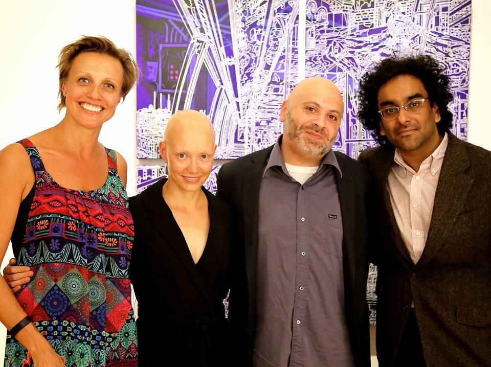 From left: Vica Miller, Helen Phillips, Robert Lopez and Mark de Silva
