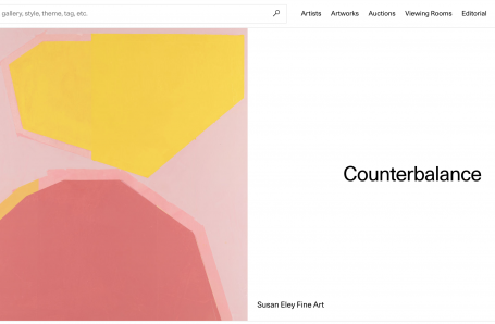 View Counterbalance in Artsy's new viewing rooms